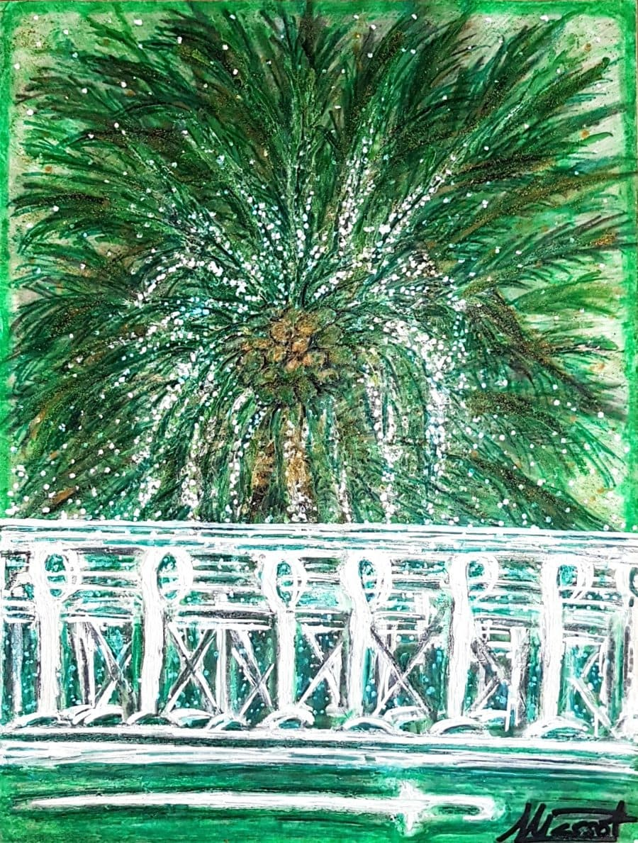 Árabe 2. Acrílico sobre cartón pluma. 40x30 cm
