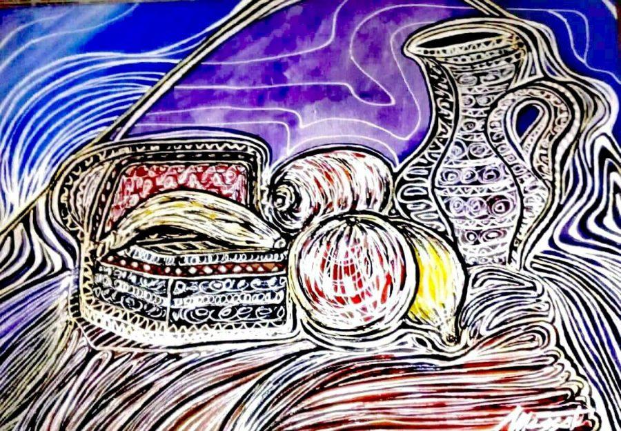 Bodegón morisco 3. Acrílico sobre lienzo 55x38 cm