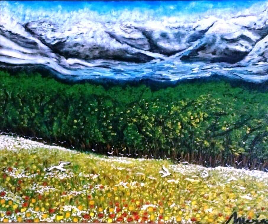 Glaciar 7. Óleo sobre lienzo 60x50 cm