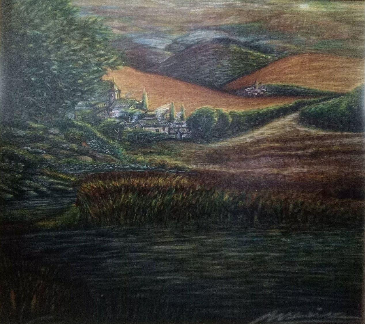 La cosecha. 8ac. Acrílico sobre tabla 68x61 cm