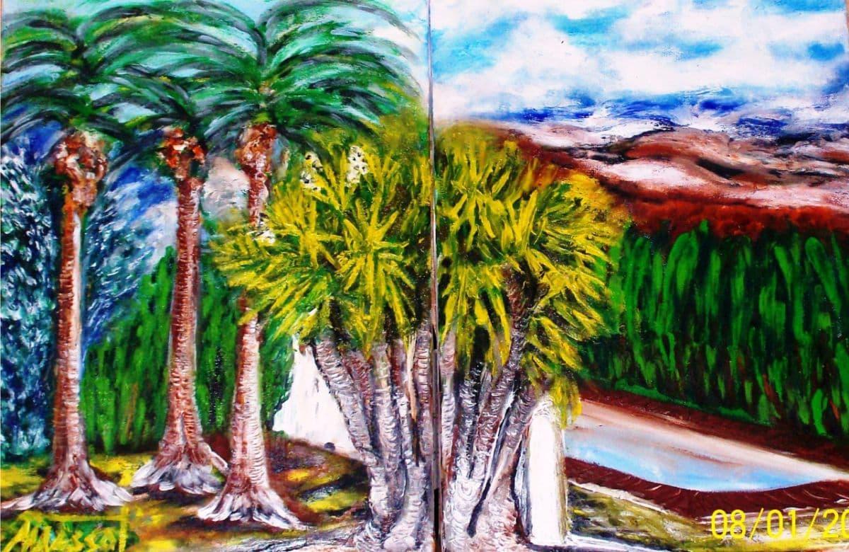 La yuca 9. Óleo sobre lienzo 2x (30x40 cm)