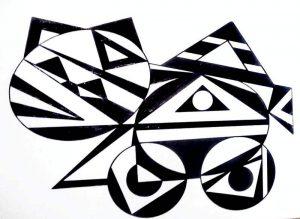 Massorobot Gatito Miau. 3. Acrílico sobre cartón pluma autoadhesivo. DISEÑO BÁSICO 50x70 cmdp