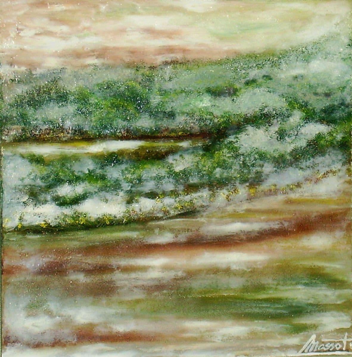 Pantano 8. Óleo sobre tabla. 30x30 cm