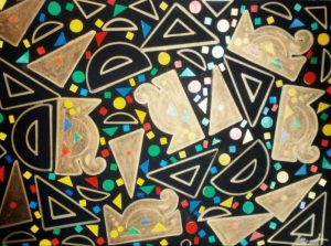 UNIVERSO K2B 8 Acrílico sobre cartón pluma autoadhesivo. DISEÑO BÁSICO, 50x70 cm